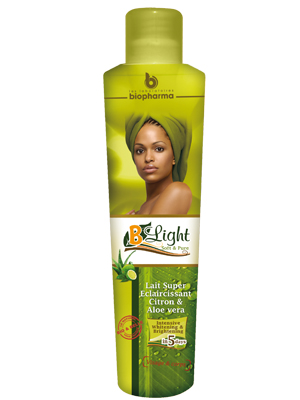 B-Light Lait de toilette super éclaircissant au citron et aloe vera ( soft and pure ) 300ml